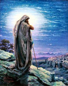 Thomas Kinkade Jesus Painting | Prayer for Peace (Jesus) by Thomas Kinkade 20x16 Publisher Proof P/P ...