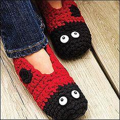Ladybug slippers