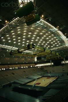 Interior of Palau Sant Jordi at Olympic where the semi finals will be played.