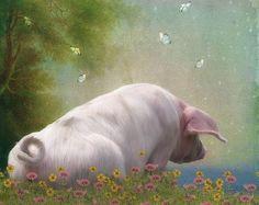 Pig Crafts, Pig Art, Happy Weekend, Cool Artwork, Landscape Paintings, Landscapes, Farm Animals, Digital Illustration, Amazing Art