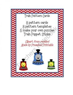 Train Pattern Cards  product from Preschool Printable on TeachersNotebook.com