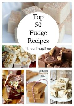 Top 50 Fudge Recipes - a collection of THE BEST fudge recipes around! Best Fudge Recipe, Fudge Recipes, Candy Recipes, Holiday Recipes, Dessert Recipes, Whey Recipes, Christmas Desserts, Christmas Treats, Christmas Baking