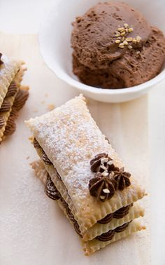 feuillete au chocolat fondant ♥