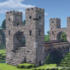 Casa Medieval Minecraft, Minecraft Mansion, Minecraft Cottage, Cute Minecraft Houses, Minecraft Plans, Amazing Minecraft, Minecraft Survival, Minecraft Blueprints, Minecraft Creations