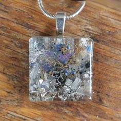 Reduce stress and anxiety. Orgonite pendant. Shungite. Jewelry for calm. Necklace for new mom. Sister. Amethyst. Jewelry for writers by EarthlightsJewelry on Etsy