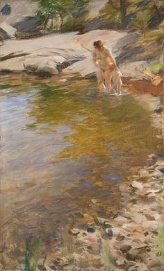 Anders Zorn The Morning Toilet print for sale. Shop for Anders Zorn The Morning Toilet painting and frame at discount price, ships in 24 hours. Zorn, Figure Painting, Painter, Portraiture, Gardner Museum, Painting, Beautiful Paintings, Traditional Paintings, Art