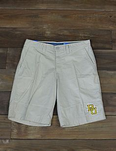 Men's Baylor BU Columbia shorts // Perfect for hot game days!