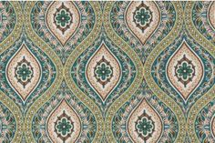 Richloom Jasmina Solarium Printed Polyester Outdoor Fabric in Juniper $8.95 per yard