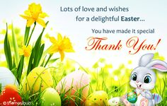 Thank You For A Delightful Easter! #thanksgiving #thankyou #easter #easterbunny #flowers #cards #wishes #animatedgif #delightfull