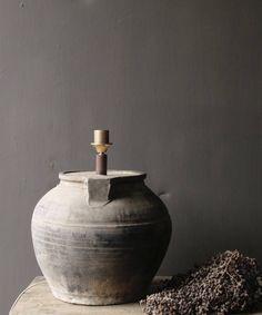 Kruiklamp gemaakt van een oude waterkruik