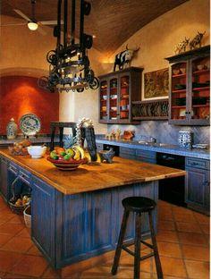 kitchen decor 8 Best And Amazing Spanish Style Bedroom Furniture Design Ideas Mexican Style Kitchens, Mexican Kitchen Decor, Mexican Home Decor, Spanish Kitchen Decor, Mexican Style Homes, Southwest Kitchen, Mexican Hacienda Decor, Spanish Colonial Kitchen, Hacienda Style