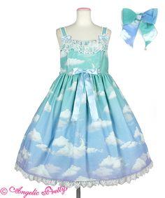 Edwardian Clothing, Shops, Angelic Pretty, Lolita Fashion, Blue Green, Summer Dresses, Elegant, My Style, Outfits