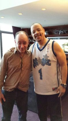 Todd Barry and Ice T; rapper, actor, cold beverage.