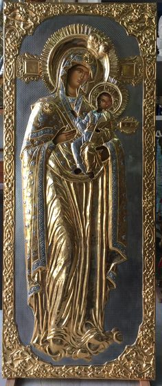 Mother Of Christ, Blessed Mother, Mother Mary, Religious Images, Religious Icons, Religious Art, Virgin Mary Painting, Russian Icons, Jesus On The Cross