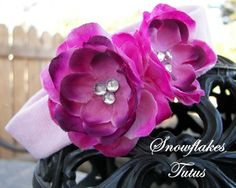 FREE SHIPPING Infant Pink & Purple Flower by SnowflakesTutus, $7.75