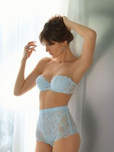 ,,,  Those high-cut panties are almost a French Knicker. Adorable colour too.  Blue fine colour, I like the fitted style with no long leg