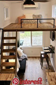 26 Chateau Shack Tiny Home on Wheels Mini Mansions Tiny Home Builders LLC Tiny House Loft, Best Tiny House, Tiny House Living, Tiny House Plans, Tiny House On Wheels, Tiny House Design, Tiny Loft, Small Room Design, Home Room Design