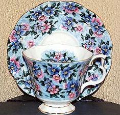 Royal Albert China Series - Garden Party Series Blue Bouquet