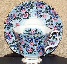 Royal Albert China Series - Garden Party Series Blue Bouquet