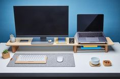 Best Workstation To Make You Work Happily And Boost Your Productivity - Home office Computer Desk Organization, Computer Desk Setup, Organization Ideas, Laptop Desk, Gaming Computer, Home Office Setup, Home Office Design, Office Shelf, Office Workspace