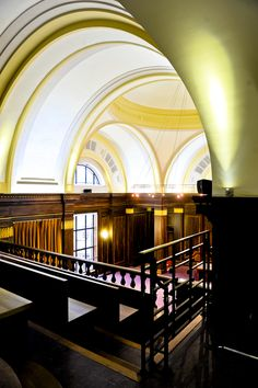 Stoke Newington Town Hall Council Chamber balcony 1930s glamour with its outstanding Art-Deco interiors