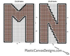Free Plastic Canvas Alphabet Patterns. Each letter is 4 inches tall - just perfect for making banners!