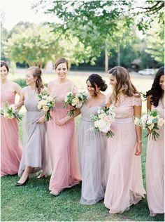 Mix + Match bridesmaids in Jenny Yoo