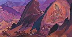 Order of Rigden Jyepo, 1927 by Nicholas Roerich. Symbolism. religious painting. N. K. Roerich International Centre-Museum, Moscow, Russia
