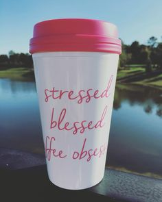 Stressed, Blessed, Coffee Obsessed Travel Mug