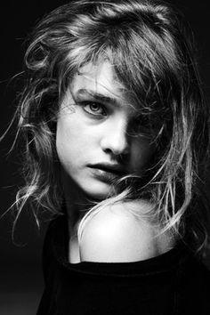 Natalia with dishevelled hair #NataliaVodianova  #hair