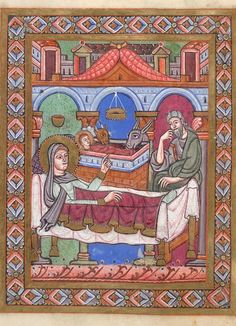 Birth of Jesus in Gospel Lectionary, written in Germany in the early 12th century.