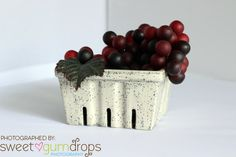 Ceramic Berry Basket Go Green and carry your by CreativityHappens, $27.00