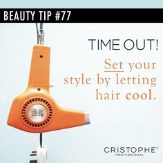 Alternating between heat and cool-down helps to set your style.