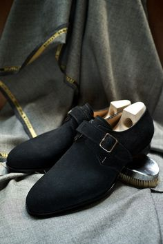 Elegant Black - Pt. 1 Model 107 Single Monks in Black Suede Saint Crispins for The Armoury Especially for YH