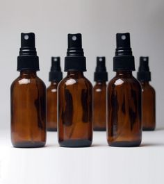 2 Oz Amber Glass Spray Bottle - 6 pack