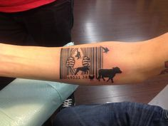 Vegan tattoo open all cages