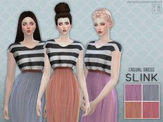 The Sims Resource: Slink - Casual Dress by Screaming Mustard • Sims 4 Downloads