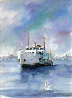 . Eserin İsmi : Gemi Suluboya : Kubilay Şenses Boyut