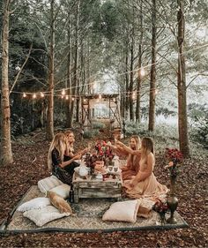 Glamping, Before Wedding, Forest Fairy, Diy Hacks, Fairy Lights, Van Life, Summer Vibes, Tea Party, Backyard