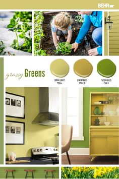 Spring is here. That means it's time to freshen up your home decor style with a fun pop of color. Behr Paint can help. Check out this collection of grassy green paint shades to get inspired for your next DIY home makeover project. Click below to learn more.