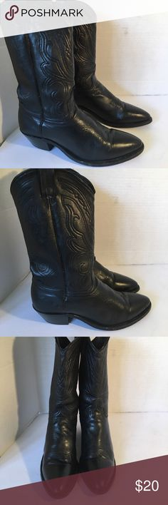 "🌺FRIDAY SALE🌺Gorgeous Leather Cowboy Boots Gorgeous leather cowboy boots in excellent condition. Some wear on soles but outside of boots are beautiful. 1"" heels. IF YOU PURCHASE MORE THEN 1 ITEM, THEN YOU CAN ONLY BUNDLE UP TO 3 ITEMS PER ORDER. OR YOUR ORDER WILL BE CANCELED Shoes Heeled Boots"