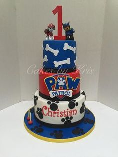 paw patrol 3 tier cake - Google Search
