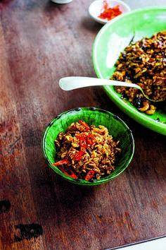 Vegan red cabbage and cashew nut biryani recipe