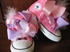 Converse COTTON CANDY Pink HiTops with by PrincessSneakers on Etsy, $69.95