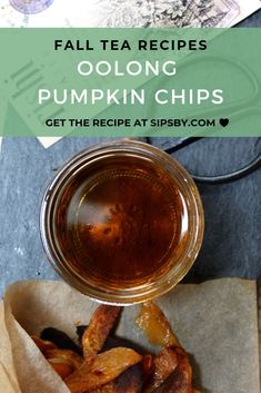 Pumpkin chips are the perfect healthy snack for fall They also pair well with oolong tea Throw the best fall tea party using our oolong pumpkin chips recipe and more at Oolong Tea Benefits, Healthy Thanksgiving Recipes, Holiday Recipes, Autumn Tea, Tea Recipes, Cocktail Recipes, Delicious Dinner Recipes, Dessert For Dinner