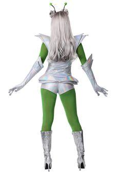 Galactic Alien Babe Costume for Women - Halloween - Unique Costumes, Cool Costumes, Costumes For Women, Costume Ideas, Alien Make-up, Alien Girl, Alien Halloween Costume, Halloween 2019, Women Halloween