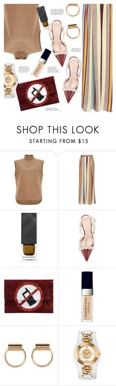 """Fall Outfit"" by stacey-lynne ❤ liked on Polyvore featuring Marni, Maison Père, Burberry, Kate Spade, Anya Hindmarch, Christian Dior and Versace"