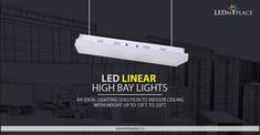 LED Linear High Bay Lights is a superior form of lights for the commercial place such as Warehouses, stores, supermarkets, retail marts, garages, and covered parking lots etc. LED Linear High Bay Lights design for large area and taller ceilings. This lights create a powerful and focus illumination light at long space. #ledlinearhighbaylights #linearhighbaylights #highbaylights #ledhighbaylights #ledlinearlights #canada #ledmyplace #ledlights #ledlighting #lighting Linear Lighting, Lighting Design, Bay Lights, Tall Ceilings, Warehouses, Garages, Commercial, Canada, Indoor