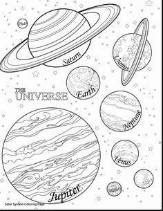 Coloriage à imprimer : Les planètes du Système Solaire