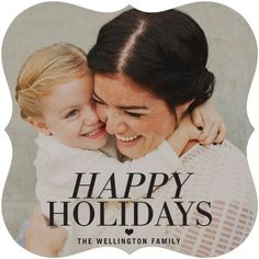 Modernly Merry - Flat Holiday Photo Cards - Hello Little One - Black : Front